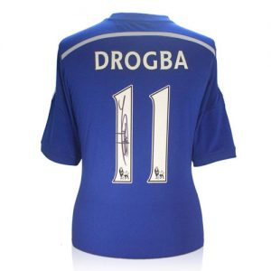Didier Drogba Signed Chelsea Shirt