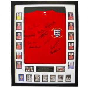 England 1966 Framed Shirt Signed by 10