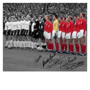 England 1966 Photo signed by 5