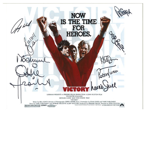 Escape To Victory Photo Signed by 9