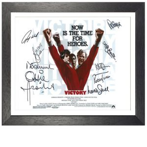 Escape to Victory Framed Photo Signed by 9