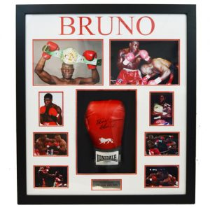 Frank Bruno Framed Signed Boxing Glove Display