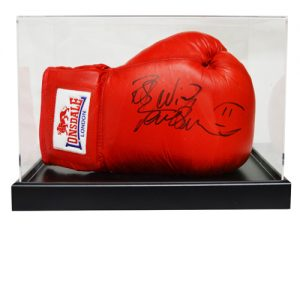 Frank Bruno Signed Boxing Glove in an Acrylic Case