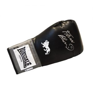 Frank Bruno Signed Boxing Glove (Black Lonsdale)