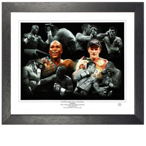 Ricky Hatton Framed Signed Photo Montage