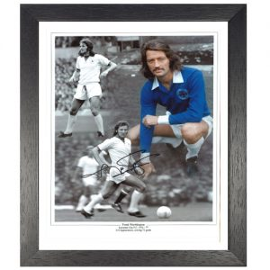 Frank Worthington Framed Signed Leicester City Photo Montage