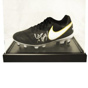 Glenn Hoddle Signed Football Boot in an Acrylic Case (Nike Tiempo)