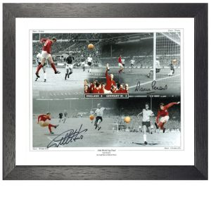 Geoff Hurst & Martin Peters Framed Signed Photo Montage