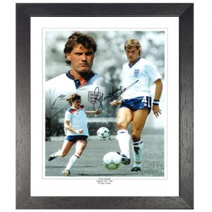 Glenn Hoddle Framed Signed Photo Montage