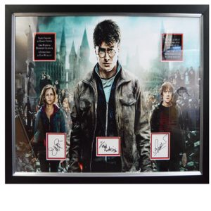 Harry Potter Framed Display signed by Daniel Radcliffe, Emma Watson & Rupert Grint