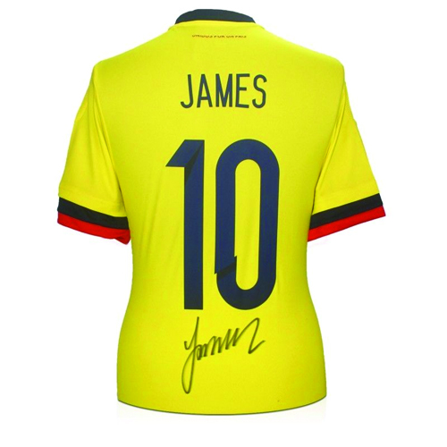 detailed look 1e488 60a98 James Rodríguez Signed Colombia Shirt