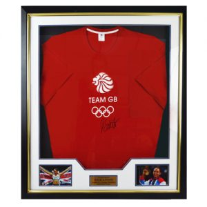 Jessica Ennis Framed Signed Team GB Shirt