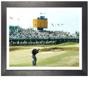 "Darren Clarke Framed Signed Photo – ""The Winning Shot"""