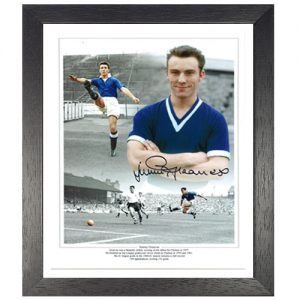 Jimmy Greaves Framed Signed Chelsea Photo Montage