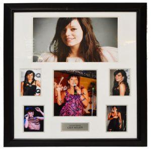 Lily Allen Framed Signed Display