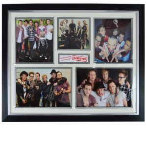 McBusted Framed Signed Display