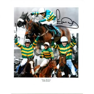 Tony McCoy Signed Photo Montage - 4000 Wins