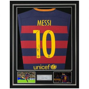 Lionel Messi Framed Signed Barcelona Shirt