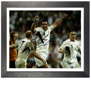 "Martin Johnson Framed Signed Photo - ""World Cup Celebrations"""