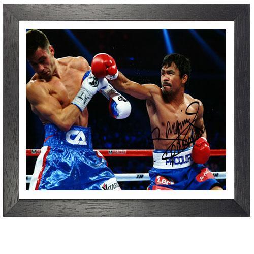 Manny Pacquiao Framed Signed Photo Vs Chris Algieri