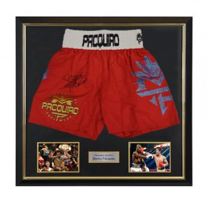 Manny Pacquiao Deluxe Framed Signed Boxing Trunks