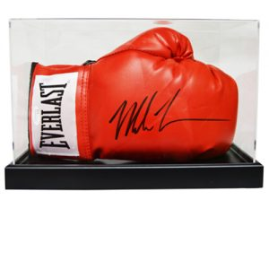 Mike Tyson Signed Glove in an Acrylic Case (Red Everlast)