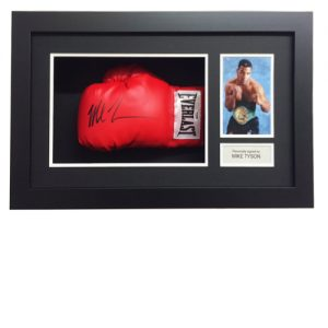 Mike Tyson framed signed glove (Red Everlast)