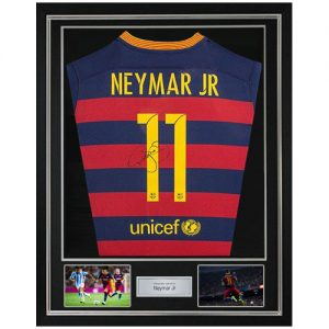 Neymar Deluxe Framed Signed Barcelona Shirt