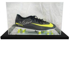 Cristiano Ronaldo Signed Football Boot in an Acrylic Case – Nike Mercurial