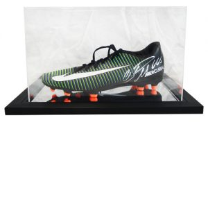 Cristiano Ronaldo Signed Football Boot in an Acrylic Case – Black Nike Mercurial Victory