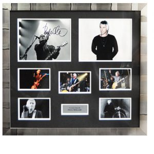 Paul Weller Framed Signed Display
