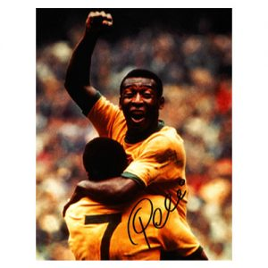 Pele signed photo