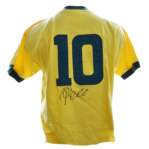 Pele signed brazil shirt