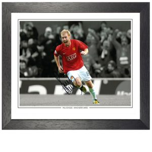 Paul Scholes Framed Signed Photo