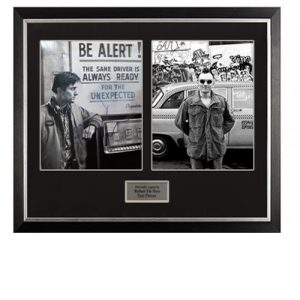 Roberto De Niro Framed Signed Display – Taxi Driver
