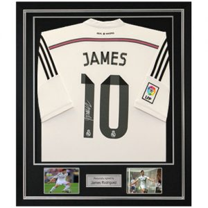 James Rodriguez Deluxe Framed Signed Real Madrid Shirt