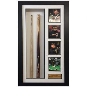 Ronnie O'Sullivan Framed Signed Snooker Cue