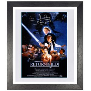 Star Wars Framed Poster signed by Dave Prowse (Return of the Jedi)