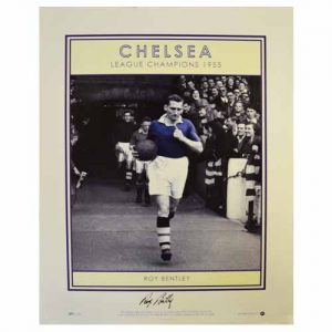 Roy Bentley Signed Print - League Champions 1955