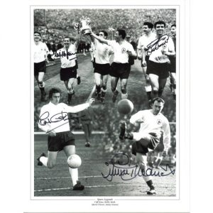 Spurs Legend Photo Montage Signed by Jones, Smith, Chivers & Greaves