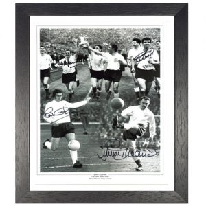 Spurs Legend Framed Photo Montage Signed by Jones, Smith, Chivers & Greaves