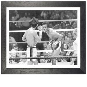 Sugar Ray Leonard Framed Signed Photo Vs Roberto Duran