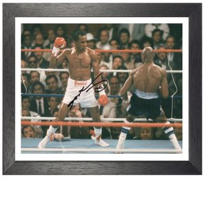Sugar Ray Leonard Framed Signed Photo Vs Marvin Hagler