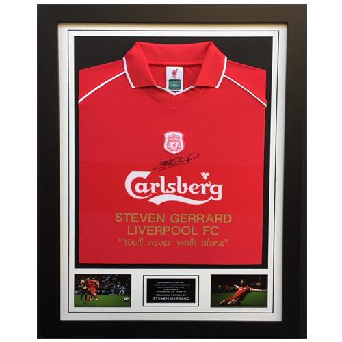 Steven Gerrard Framed Signed Liverpool FC Shirt - Limited Edition 5ecef491d