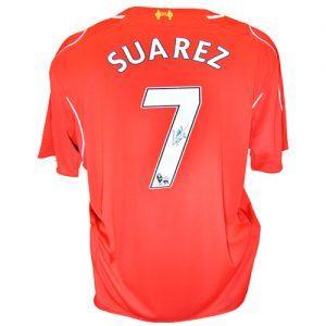 Luis Suarez signed Liverpool FC Shirt