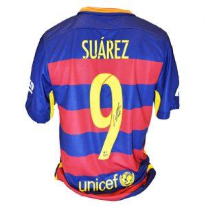 Luis Suarez Signed Barcelona Shirt