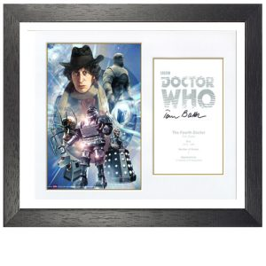 Tom Baker Framed Signed Doctor Who Poster