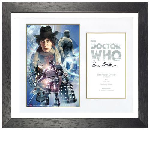 Tom Baker Framed Signed Doctor Who Poster