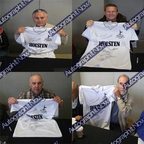 Tottenham Hotspur 1984 UEFA Cup Deluxe Framed Signed Shirt