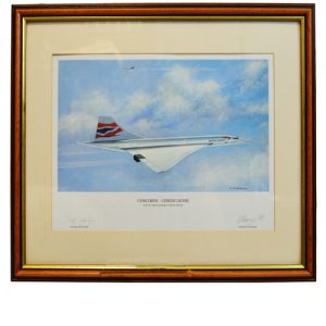 "Concorde ""Coming Home"" Framed Signed Print"